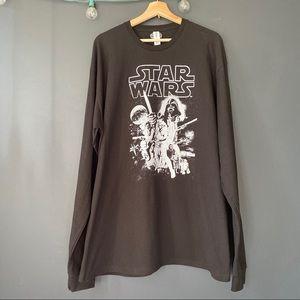 Star Wars Black Long Sleeve Graphic Tee